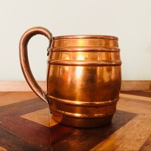 Copper Barrel Mug by National Silver